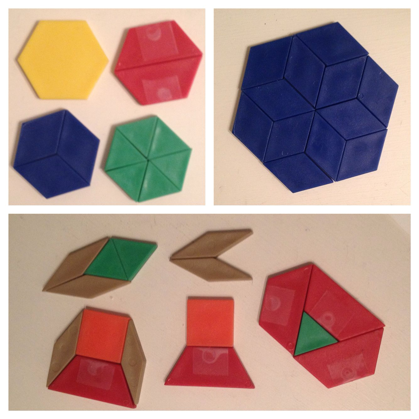 Build A Hexagon With Pattern Blocks To Introduce