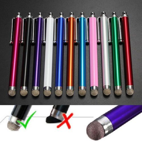 3 X Metal Mesh Micro-Fibre Tip Touch Screen Stylus Pen For ipad Tablet PC
