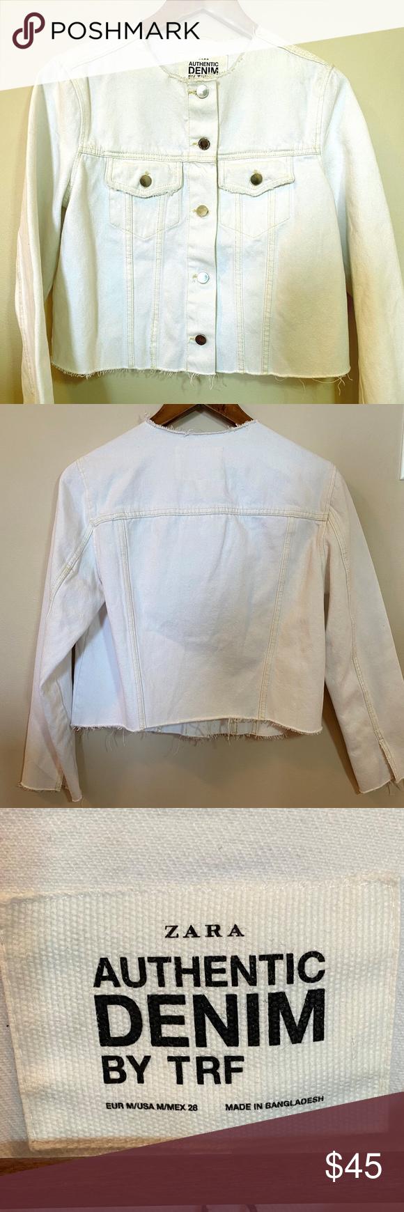 Zara Authentic White Denim Jacket By Trf White Denim Jacket Zara White Denim [ 1740 x 580 Pixel ]