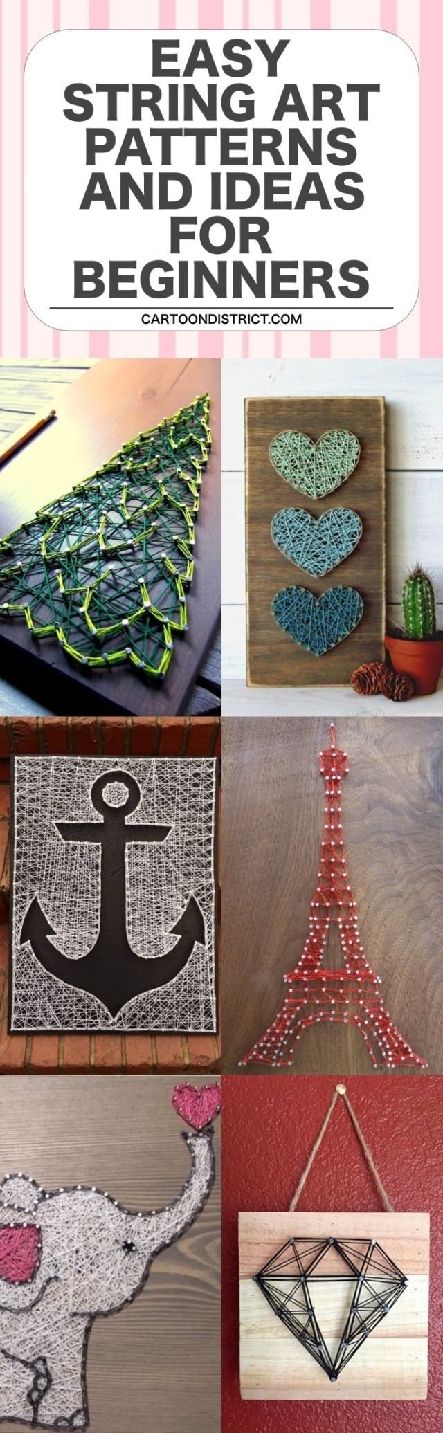 40 Easy String Art Patterns and Ideas