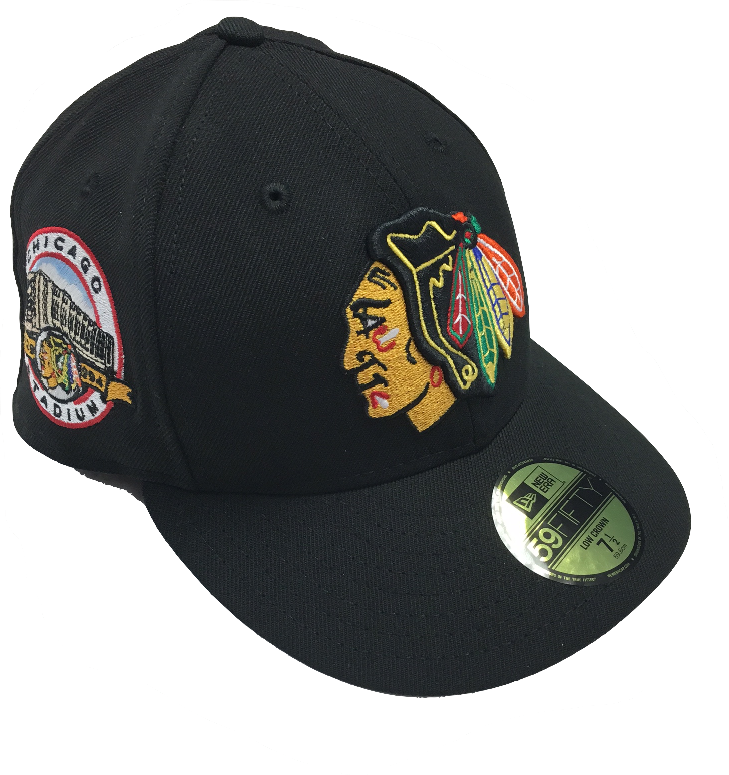 8f0ce0024 CHICAGO BLACKHAWKS LOW PROFILE CHICAGO STADIUM SIDE PATCH 59FIFTY CAP BY NEW  ERA