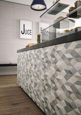Velkoformatovy Geometricky Dekor Chalk Decoro Origami Grey 25 X 76 Cm Chalk Contemporary Rug Tiles