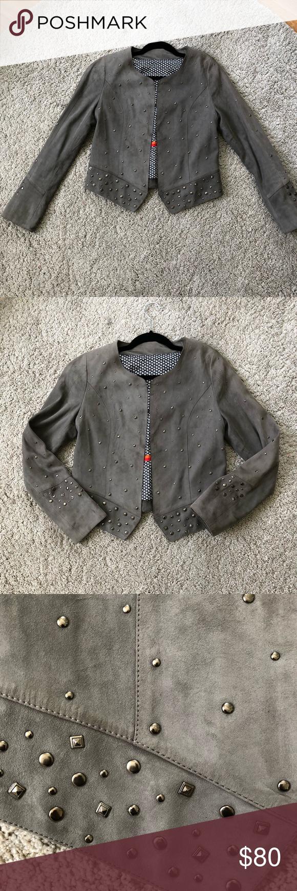 Clan Suede Leather Jacket Medium Grey Leather Jacket Suede Leather Leather Jacket