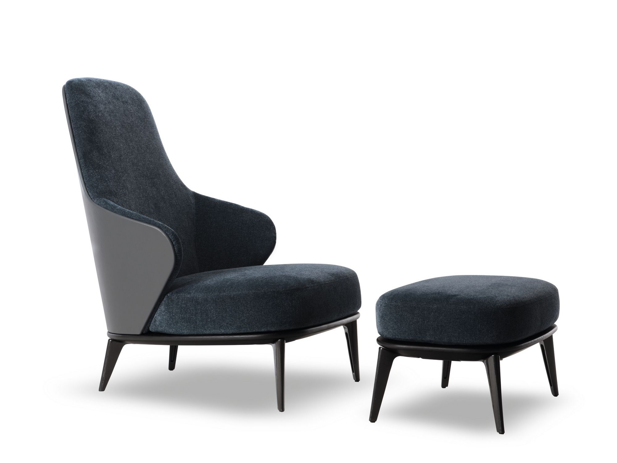 Bergere High Back Fabric Armchair Leslie Collection By Minotti | Design  Rodolfo Dordoni