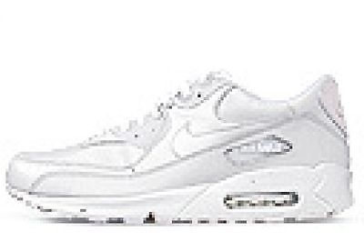 buy online d5080 f4e7f Nike Air Max 90 Leather Mens 302519-113 White Athletic Running Shoes Size  11.5