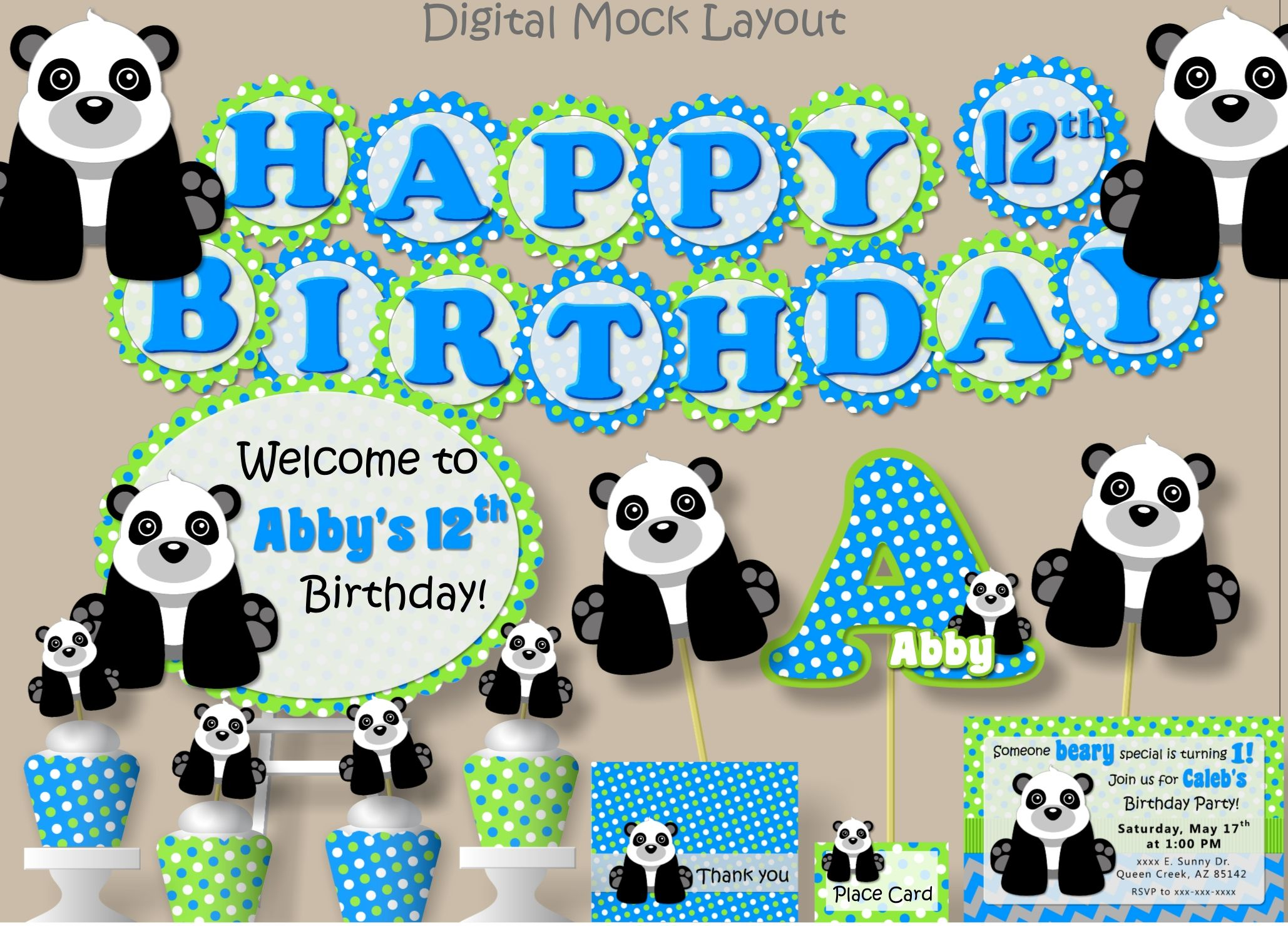 panda baby shower decorations