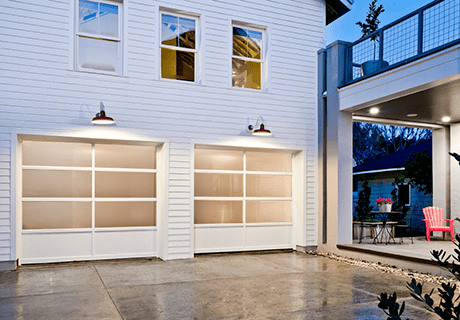 Clopay Avante Collection Aluminum And Glass Garage Doors In 2020 Garage Door Styles Modern Garage Doors Glass Garage Door