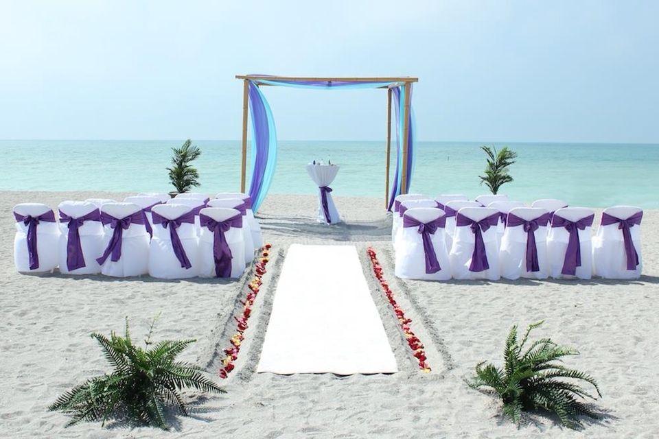 the beach aisle Beach wedding packages, Beach wedding
