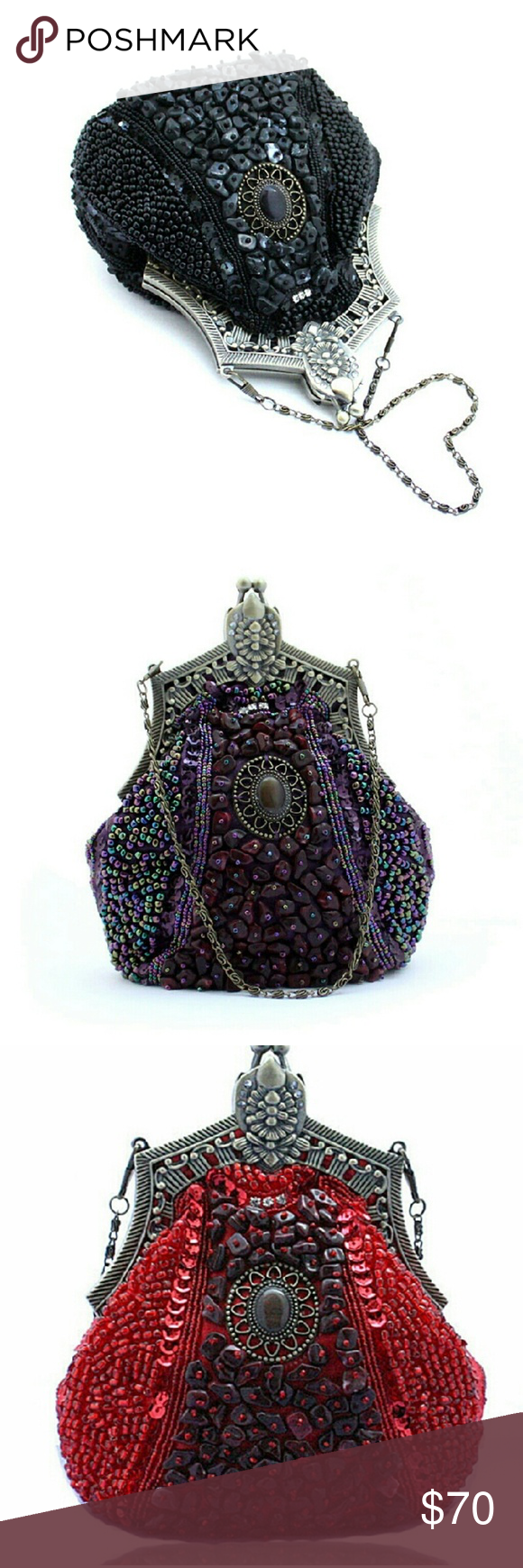 Beautiful Beaded Vintage Handbag Beautiful Beaded Vintage Handbag Bags Clutches & Wristlets