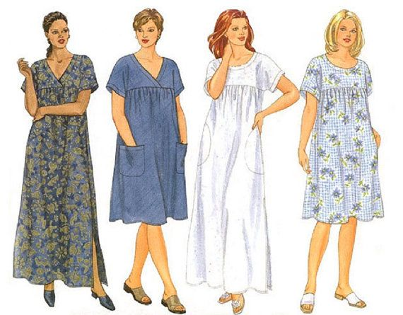 Women\'s Size MuuMuu Dress Sewing Pattern - Comfy Loose ...
