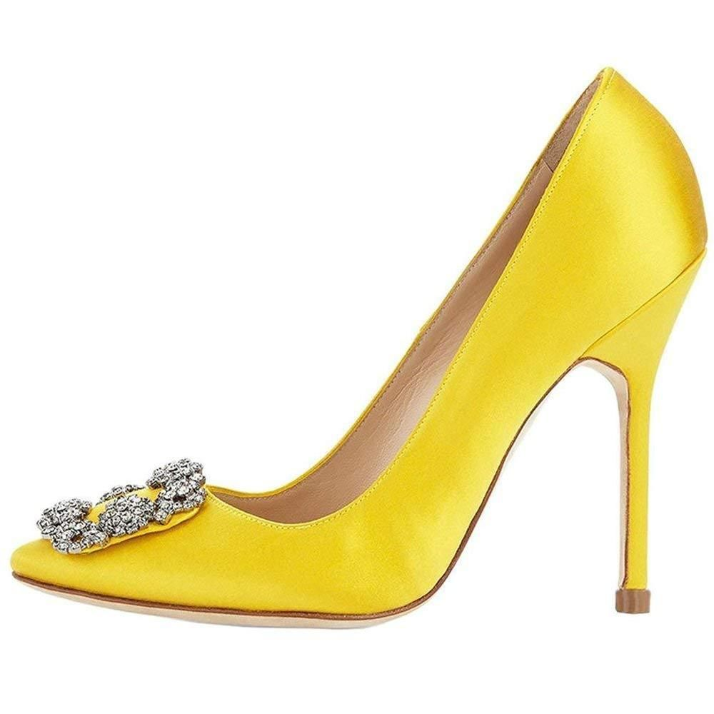 b74eb2acfe51 Womens Satin Pumps Diamonds Pointy Toe Stiletto High Heels Slip On Evening  Pumps  fashion  clothing  shoes  accessories  womensshoes  heels (ebay link)