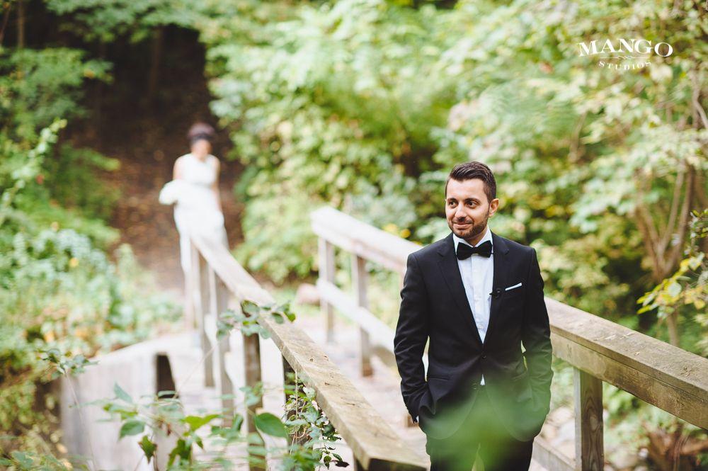 #bride #groom #nature #firstlook #dress #suit #weddings #mangostudios #portrait #inspiration photography by Mango Studios