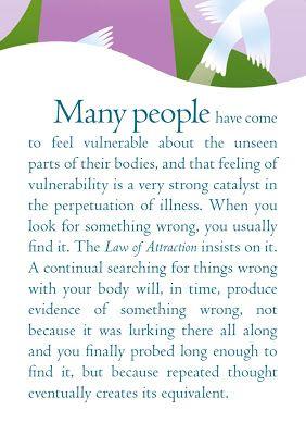 ARTICUS - Un mondo tutto da scoprire.: Health, The Law Of Attraction To Day