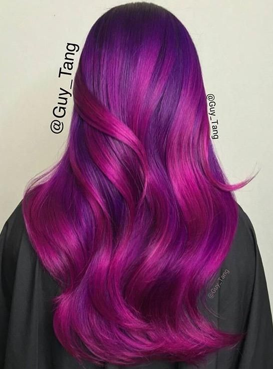 21 Hair Color Transformations By Guy Tang Magenta Hair Hair Styles Purple Hair