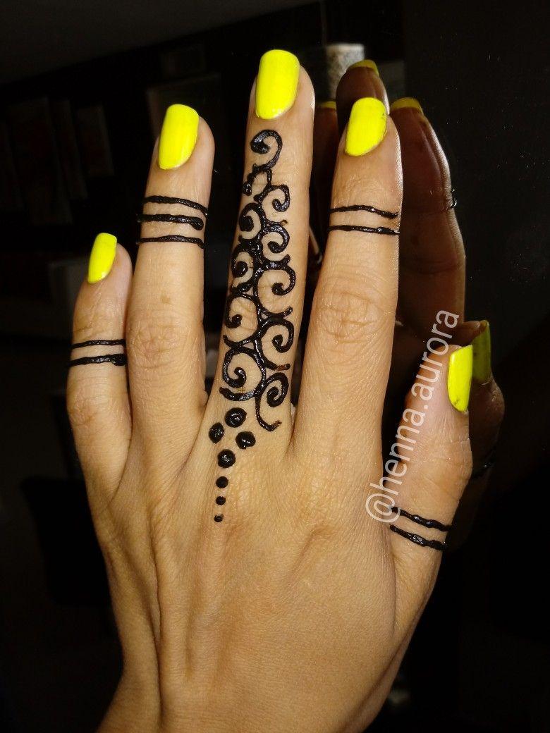 Fingers henna tattoo hennalovers finger henna diy