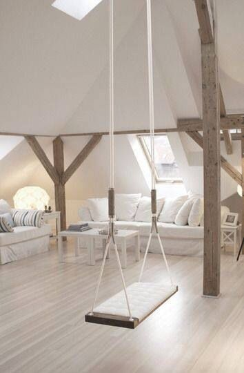 have you noticed that interior swings popular in loft spaces seem to be catching on more and more you will even spot a few swings in my book