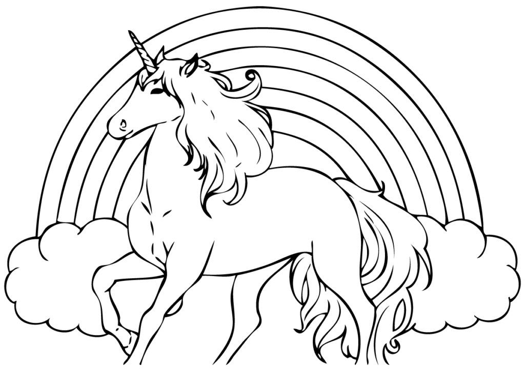 Rainbow Coloring Pages (With images) | Unicorn coloring pages ...