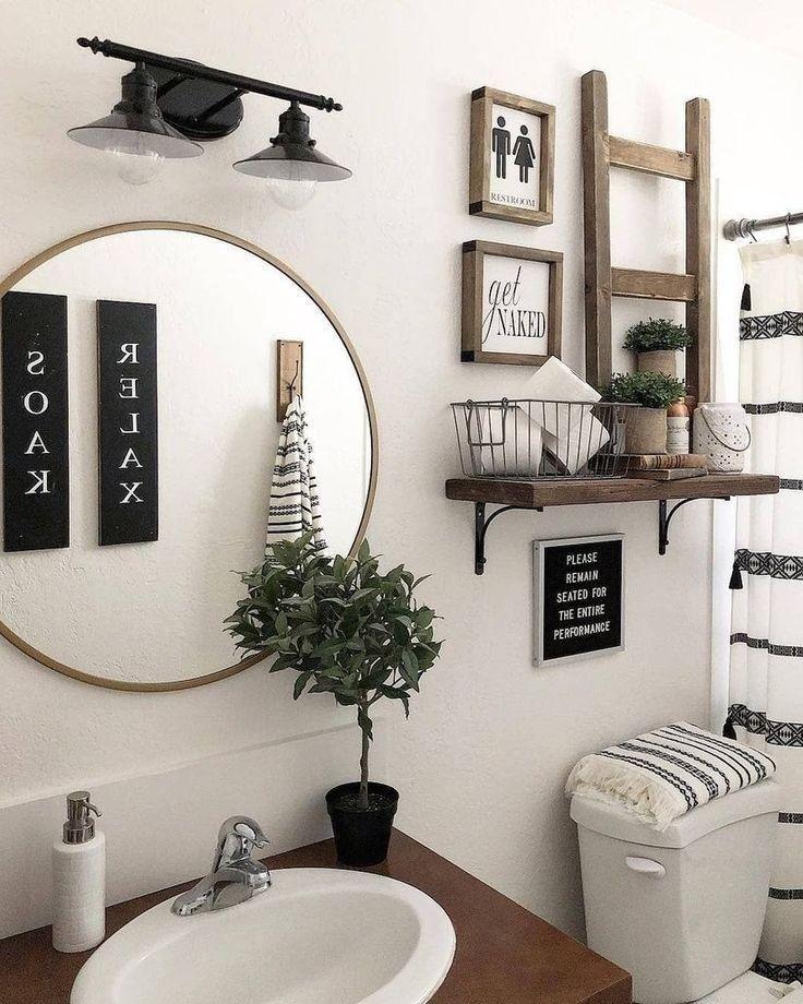 Interesting farmhouse bathroom decor ideas for any home design 17  #bathroom #Decor #decoraciondebaños #Design #Farmhouse #Home #Ideas #Interesting