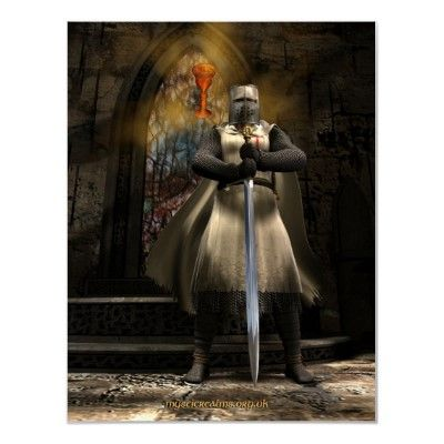 Templar with sword in hand