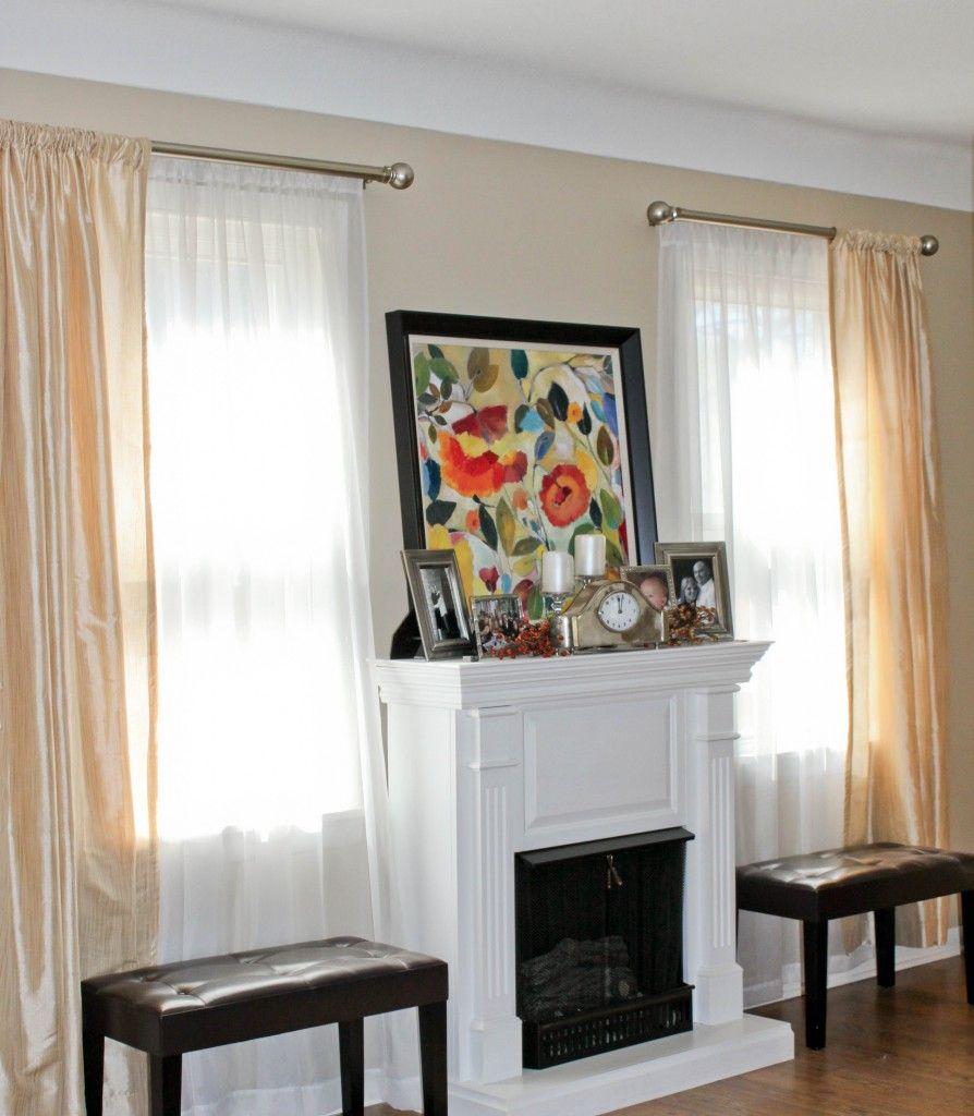 how to create a double curtain rod