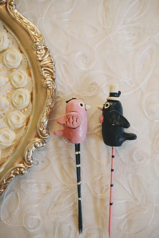 wedding decoration cake topper bird theme navy pink ivory etsy
