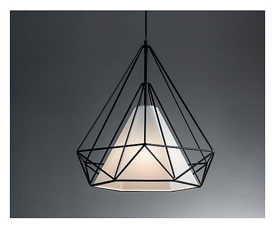 Lampadario in metallo e pvc Gea I nero - 50x120 cm