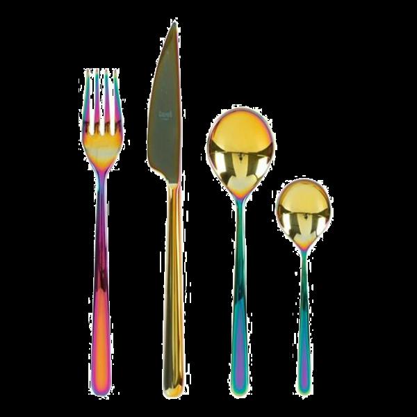 Fancy Linea Rainbow 24 Piece Cutlery Set Home Decor Trends