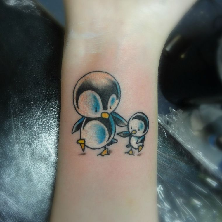 9c643670d 1 Baby Penguin Tattoo | tattoos | Penguin tattoo, Tattoos, Brother ...
