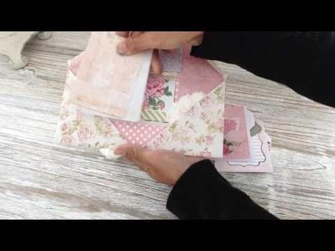 Envelope Style Flipbook using One Sheet of 12x12 - YouTube