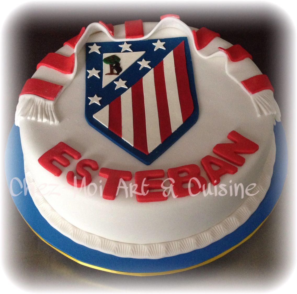 Soccer Team Fan Birthday Cake