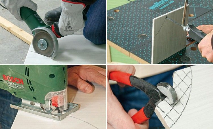Couper des carreaux selon une forme arrondie | Carrelage, Decoupe carrelage, Couper du carrelage