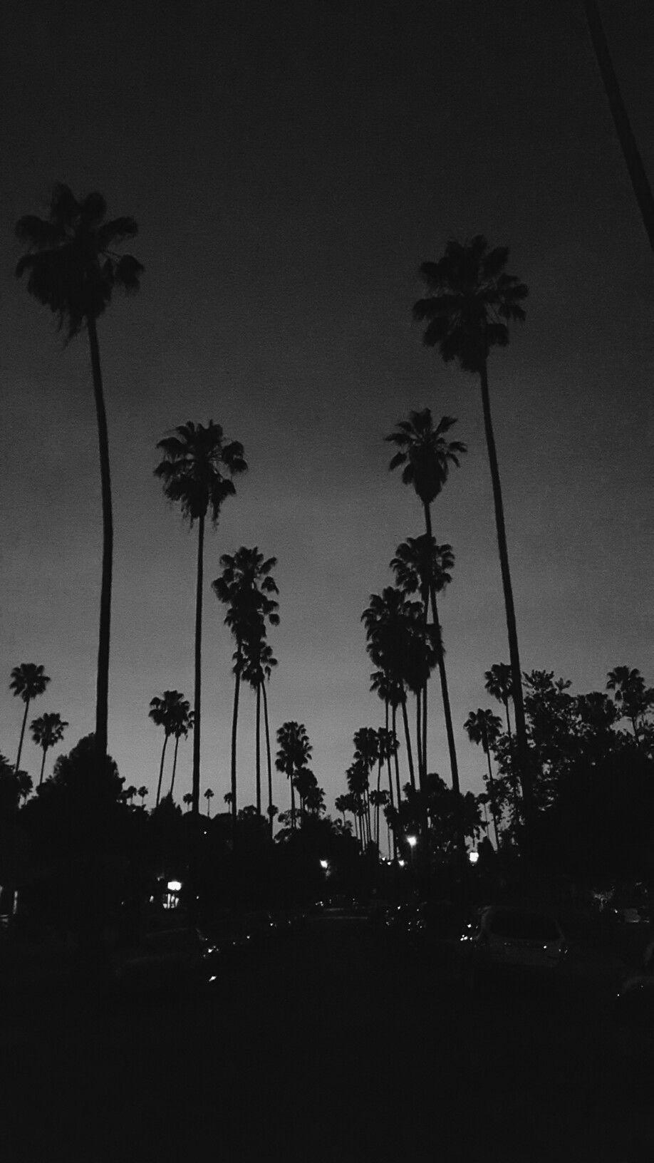 LA Vibes Black aesthetic wallpaper, Black and white