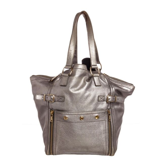 Pre Owned Yves Saint Laurent Downtown Silver Leather Tote Bag Womens Handbag   YvesSaintLaurent  Tote cdcf26b81a
