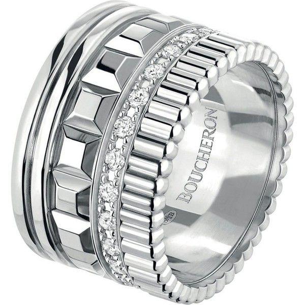 ac3fff7b2e3d8 BOUCHERON Quatre Radiant Edition 18ct white-gold and diamond ring ...