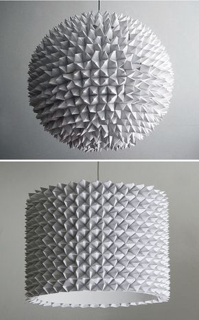 Paper Fleas Glued On To An Ikea Rice Lamp Cool Pinterest