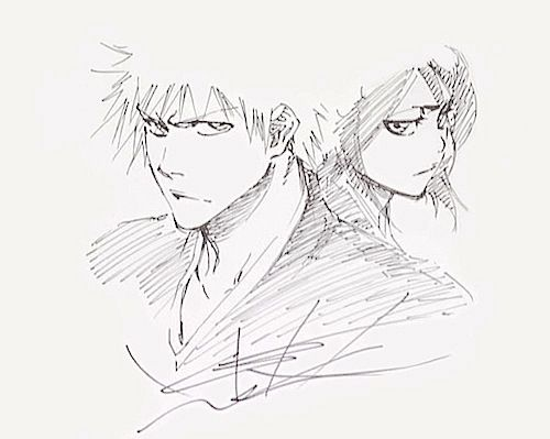 Ichigo and Rukia by Tite Kubo