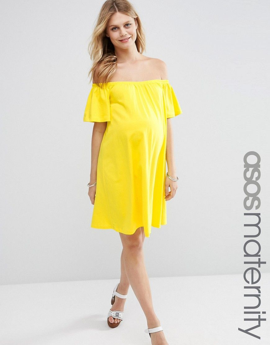 Image 1 of asos maternity off shoulder mini dress d r e s s image 1 of asos maternity off shoulder mini dress ombrellifo Image collections