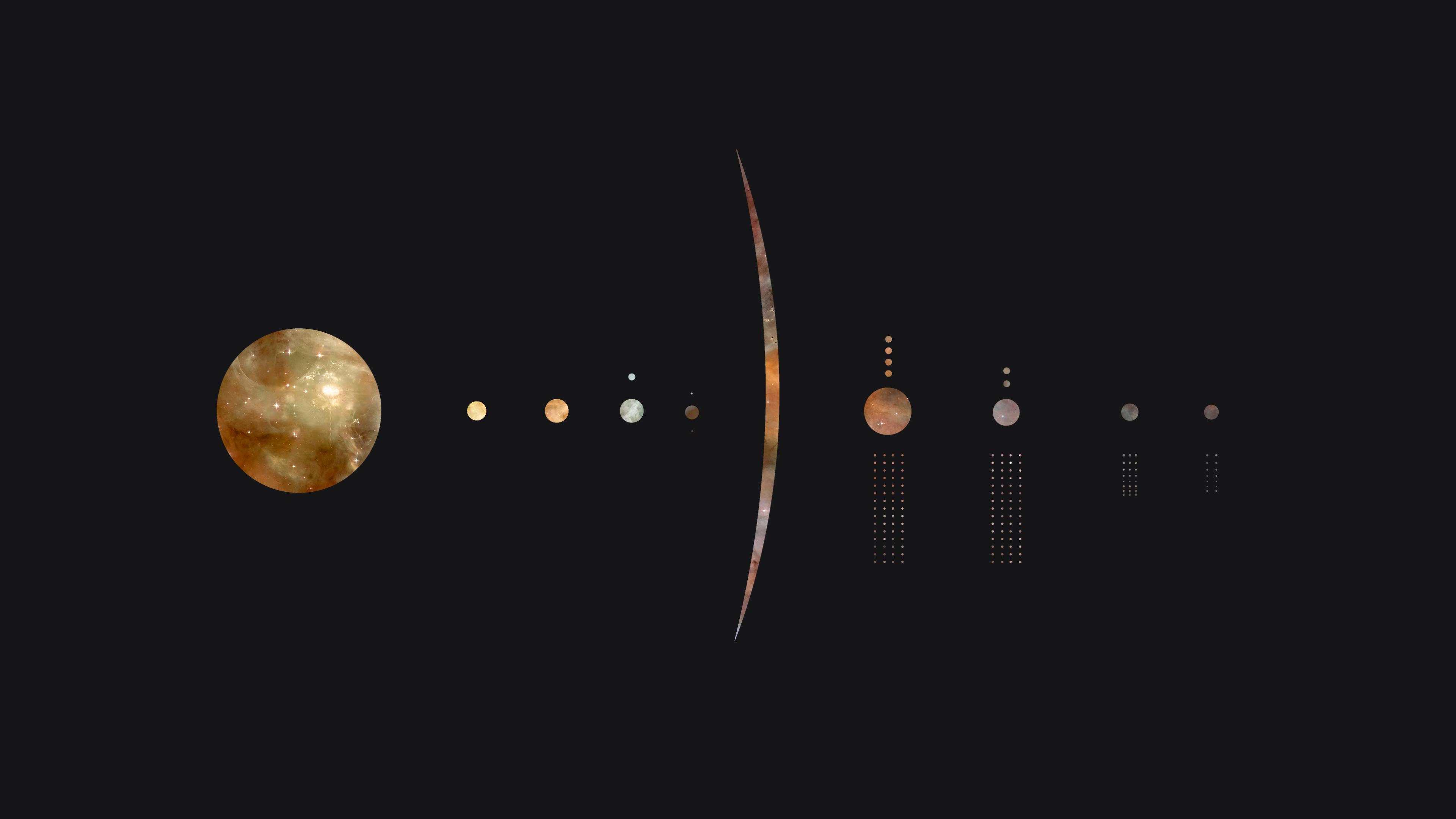Minimalistic Solar System 3840x2160 Wallpapers In 2019