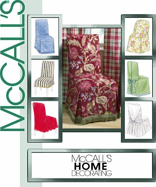 McCall\'s 4404 Chair Covers | Sewing patterns, Sewing and Chair covers