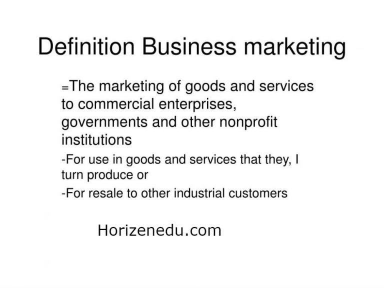 Marketing Definition By Different Authors In Business And Examples