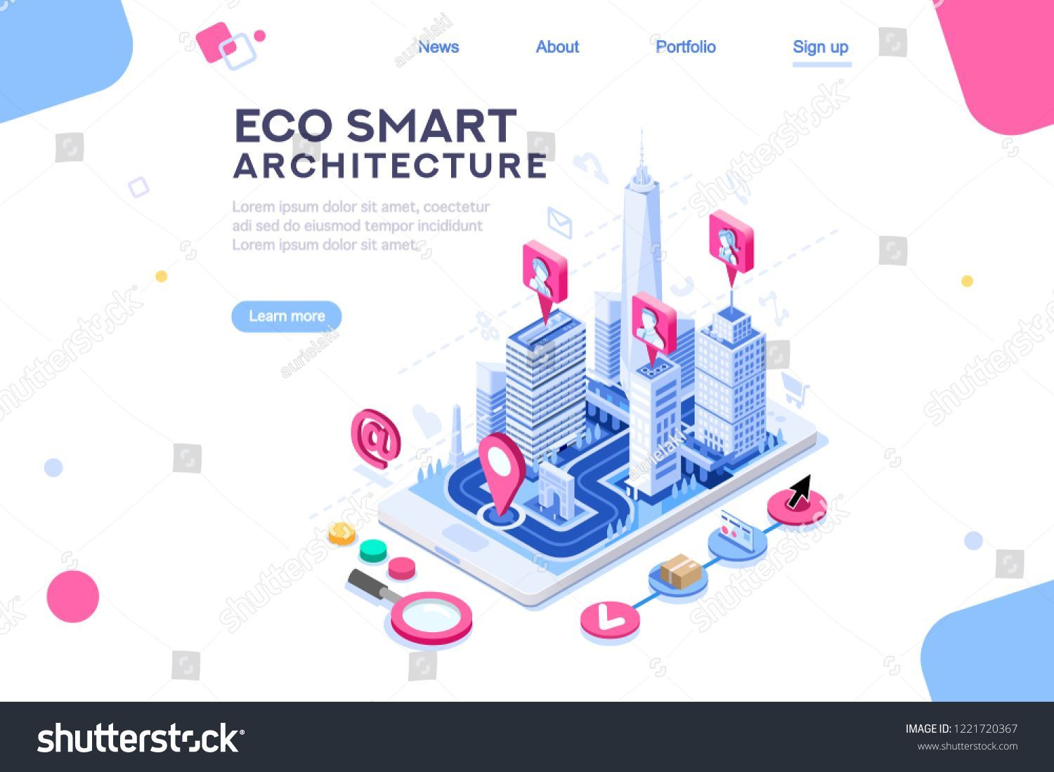 Photo of Poly center with skyscrapers, map for homepage, architecture ui or virtual dashb…