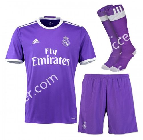 2016 17 Real Madrid Away Purple Thailand Soccer Uniform With Socks Aaa Soccer Uniforms Real Madrid Football Real Madrid