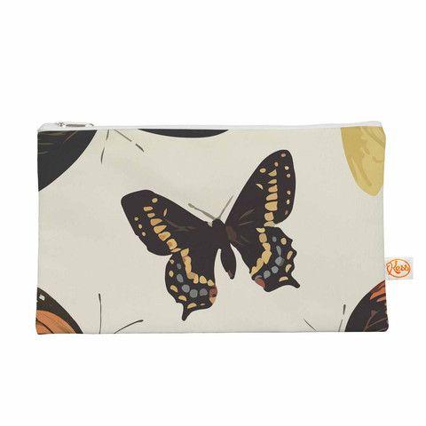 "NL Designs ""Vintage Butterflies"" Tan  Everything Bag"