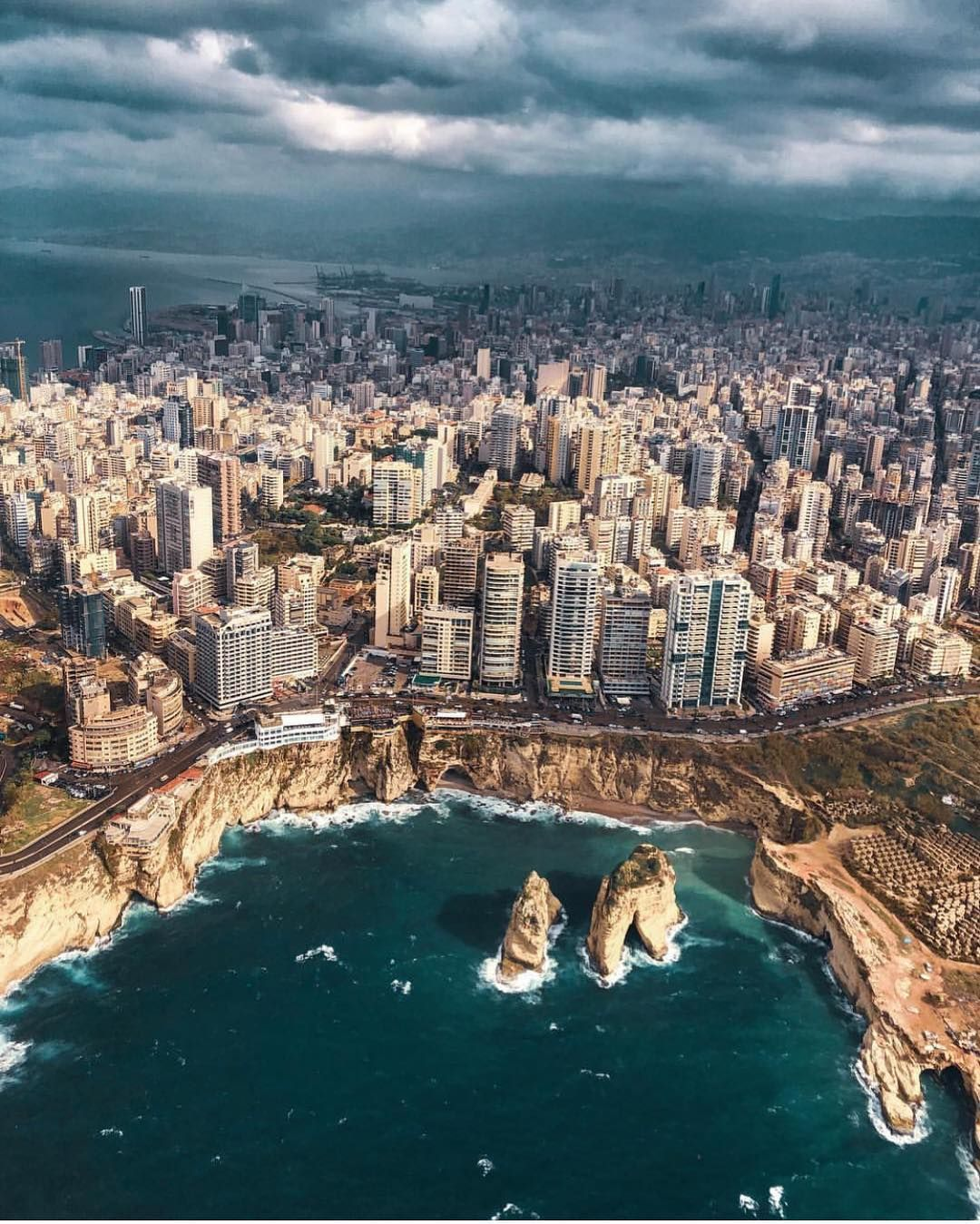 Good Morning Dear Followers With This Amazing View From Beirut Lebanon Photo Posted By Ozansihay Please Like Our Photo Spots Instagrammable Places Beirut