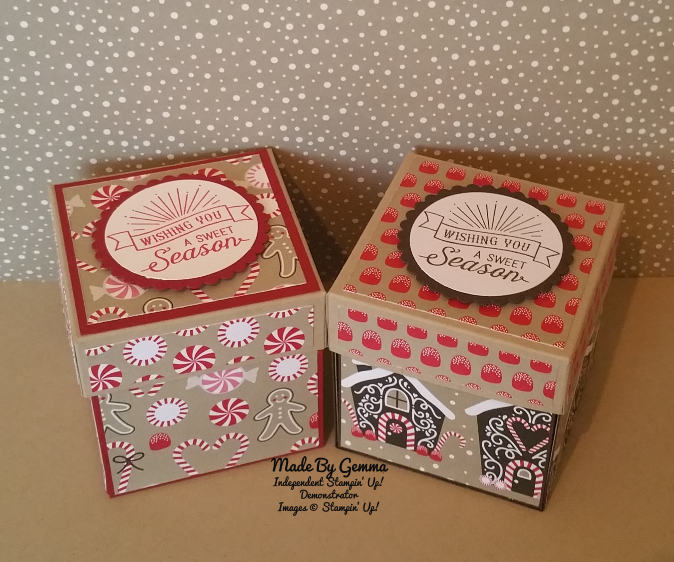 Independent Stampin' Up! Demonstrator Gemma Clarke -   Hello everyone,   In my last video I made a mini box card, so today I have made a gif...