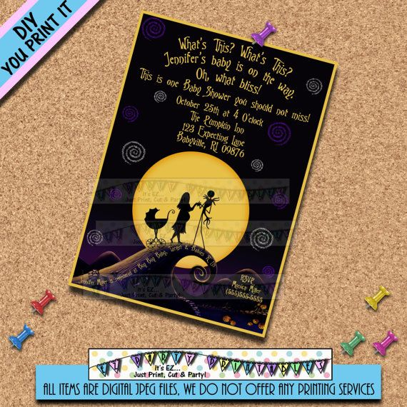 Nightmare before Christmas BABY SHOWER INVITATIONS Invites ...
