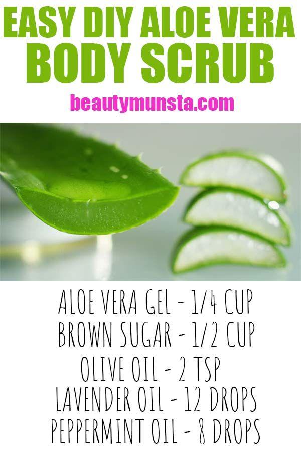 Ricetta scrub corpo fai-da-te aloe vera – beautymunsta – hack naturali di bellezza gratuiti e altro ancora!