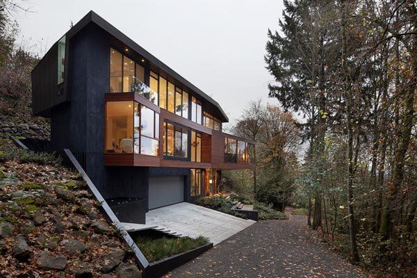 Modern Pad Featured In Twilight Saga Hoke Residence Twilight House Forest House Glass House Design