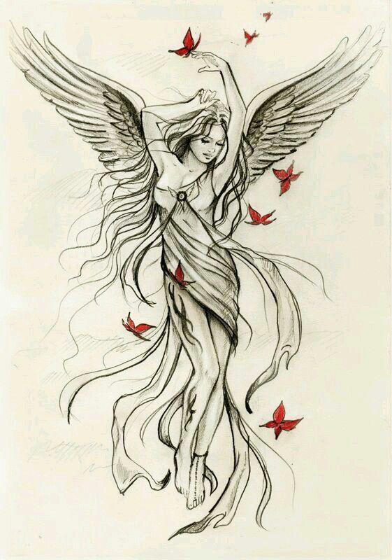 Pin By Kamila Strahl On Tattoos Angel Tattoo Angel Sketch