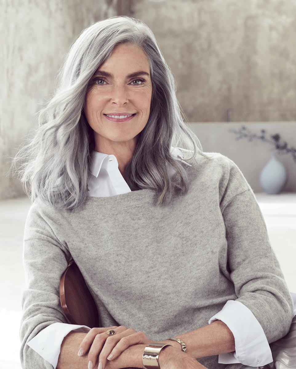 Haare mit 25 graue Graue Haare